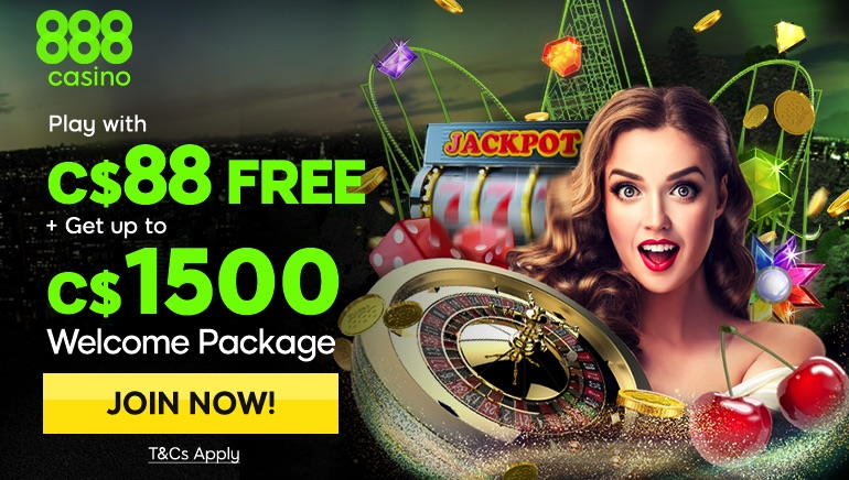 888 Casino Welcomes 2018 with Awesome Bonus for Canadian Players
