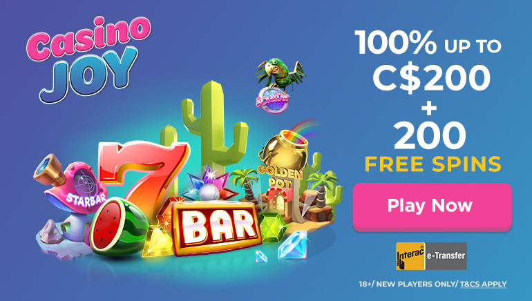 Casino Joy Offering Canadian Players $200 In Bonus Funds And 200 Free Spins On First Deposits