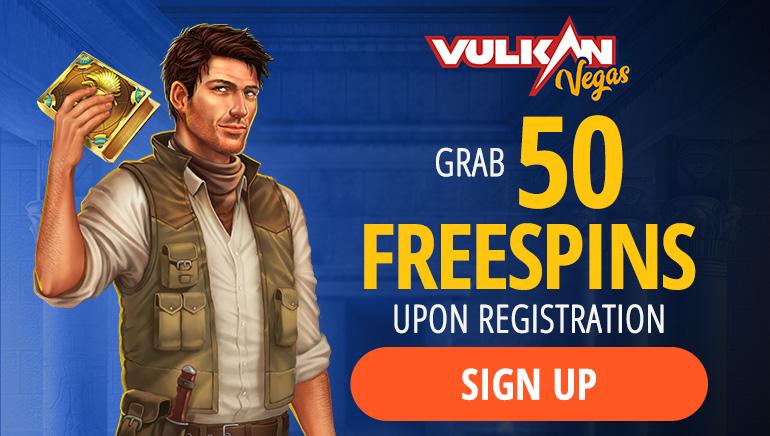 Vulkan Vegas - Grab 50 Free Spins on Registration