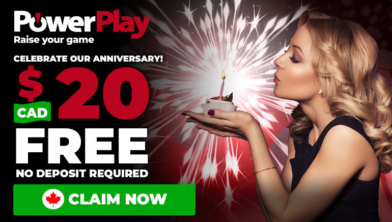 Celebrate 1st Birthday of PowerPlay Casino With $20 No Deposit Bonus