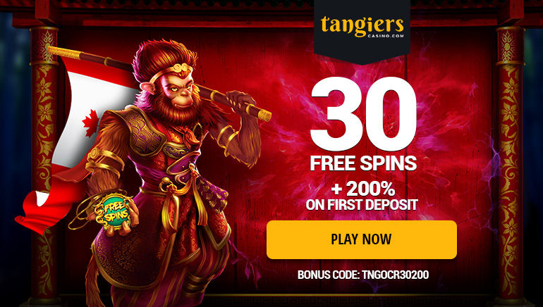 30 Free Spins and Juicy Match Deposit at Tangiers Casino