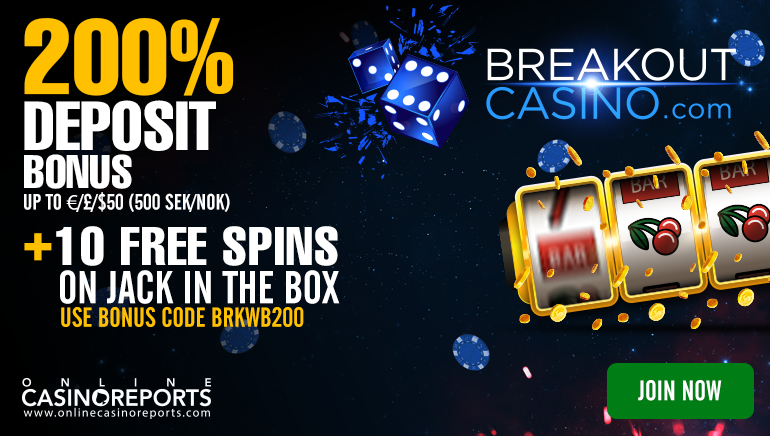 Break the Ice with 10 Free Spins at Breakout Casino: No Deposit Needed