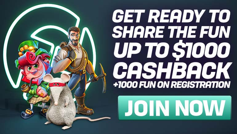 CasinoFair Giving Up To 1000 FUN Cashback