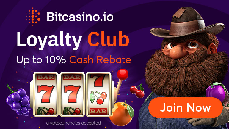 Get 10% Cash Rebate With BitCasino Loyalty Club