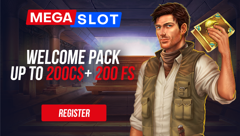 MEGASLOT - Welcome pack up to $200 +200 free spins