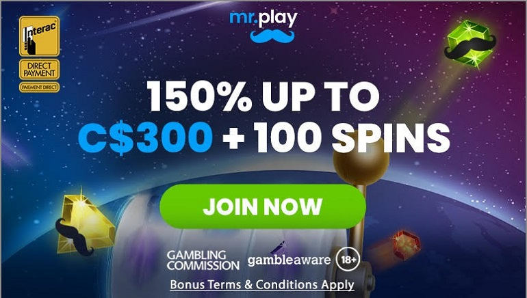 Mr Play Casino Enters Canada Bearing Many Gifts for Players