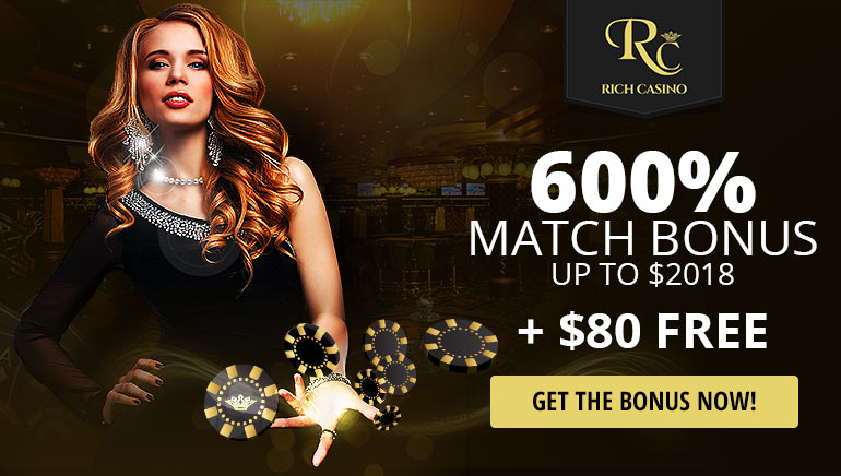 Exclusively for Online Casino Reports - 600% Bonus at Rich Casino