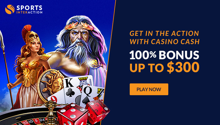 SportsInteraction Casino Offers Players 100% Bonus up to $300