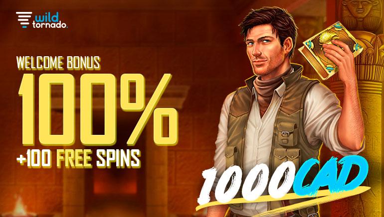 Wild Tornado - 100% Welcome Bonus +100 Free Spins