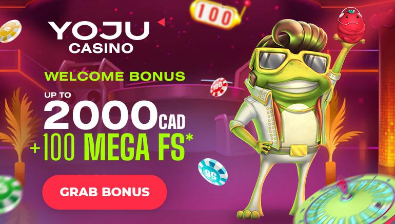 YOJU Casino - Welcome Bonus up to CAD2000 +100 mega free spins. Grab Bonus!